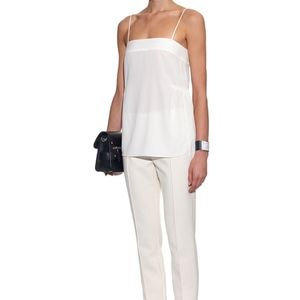 Helmut Lang silk cami side slits blouse